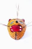 Jaguar mexicano de la máscara aislado en el fondo blanco Imágenes de archivo libres de regalías