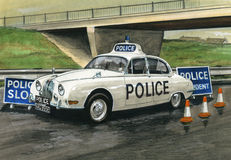 Jaguar MkII Police Car Royalty Free Stock Photos