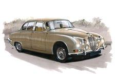 Jaguar MkII S typ Obraz Stock