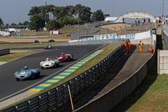 Jaguar prowadzenie rasa podczas Le Mans klasyka obrazy royalty free
