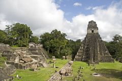 Jaguar Pyramid and ruins royalty free stock photos