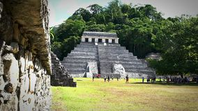 Jaguar's Temple in the Palenque archeological zone.
