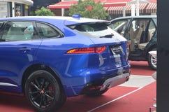 Jaguar samochód w pointview w Larco centrum handlowym w Lima, Perú fotografia royalty free