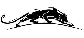 Jaguar-Schleichen-Seitenansicht lizenzfreie abbildung