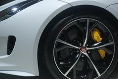 Jaguar sportowy samochód Zdjęcie Stock