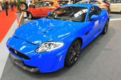 Jaguar sports car - Bucharest Auto Saloon 2014 Royalty Free Stock Photos