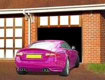 Jaguar sports car on drive Stock Photo