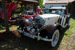 Jaguar SS100 is een Britse sportwagen twee-Seat Stock Afbeelding