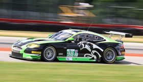Jaguar super car racing. Pro racing version of the Jaguar super car takes on the race course Stock Photo