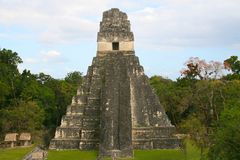 Jaguar Temple. At Tikal, Guatemala Stock Photography