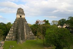 Jaguar Temple. At Tikal, Guatemala Royalty Free Stock Images