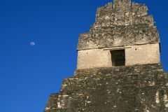 Jaguar Temple. At Tikal, Guatemala Royalty Free Stock Image