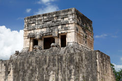 Jaguar Temple, Chichen Itza Stock Photography