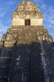 Jaguar Temple Mayan Civilization Old Ruin Tikal Guatemala. Jaguar Temple Citadel Ancient Mayan Civilization Ruin at Plaza Central in World Famous Tikal National stock photography