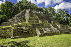 Jaguar Temple, side angle. Jaguar Temple in the Lamanai Ruins in Belize. Angle shot of the temple Royalty Free Stock Photos