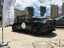 Jaguar-tentoonstelling van nieuwe modellen Stock Fotografie