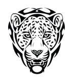 Jaguar tribal head - isolated. Vector illustration of jaguar tribal head - tattoo Royalty Free Stock Image