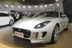 Jaguar typ przedstawienie w amoy mieście, porcelana Obraz Stock
