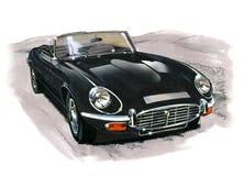 Jaguar typ serie III (XKE) royalty ilustracja