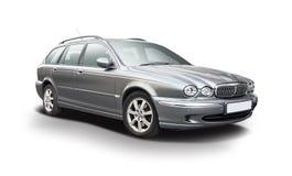 Jaguar X typherrgårdsvagn royaltyfri bild