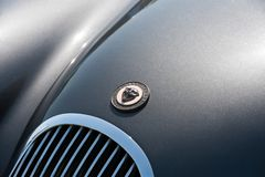 Jaguar vehicle badge stock photography