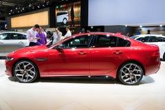 Jaguar XE red car Stock Photo
