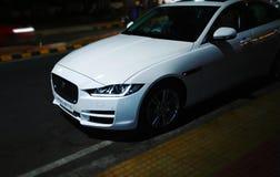 Jaguar xe samochodu nowy model zdjęcie royalty free