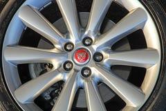 Jaguar xf alloy sports wheel Stock Photography
