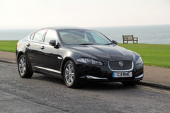 Jaguar xf car Royalty Free Stock Image