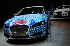 Jaguar XF on CDMS 2013 Royalty Free Stock Photography