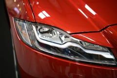 Jaguar XF som visas på den 3rd upplagan av MOTO-SHOWEN i Cracow Fotografering för Bildbyråer