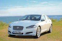 Jaguar xf sportscar Stock Images
