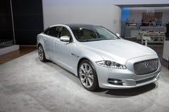 Jaguar XJ - światowy premiera zdjęcia royalty free