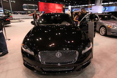 Jaguar XJ. Chicago auto show February 2011 Royalty Free Stock Images