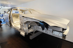 Jaguar xj  aluminium body Royalty Free Stock Photos