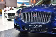 Jaguar XJ i Bangkok den internationella Thailand motoriska showen 2017 Arkivfoto