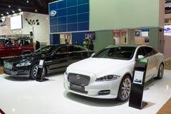 Jaguar XJ på skärm Arkivfoton