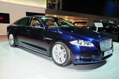 Jaguar XJ saloon car Royalty Free Stock Photos