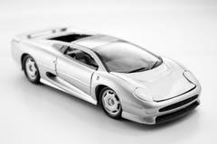 Jaguar XJ220 1/24 silver. Toy car Stock Photos