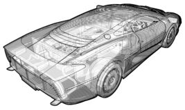 Jaguar XJ220 Royalty Free Stock Photography