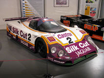 1988 Jaguar XJR9 in Le Mans 24 Museum Royalty-vrije Stock Foto's