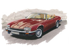 Jaguar XJS Photographie stock