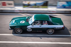 Jaguar XJS tävlings- bil Royaltyfria Bilder