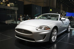 Jaguar XK Convertible - 2009 Geneva Motor Show Royalty Free Stock Photos