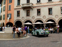 Jaguar XK 120 at Mille Miglia 2015 Royalty Free Stock Photography