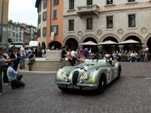 Jaguar XK 120 at Mille Miglia 2015 Royalty Free Stock Image