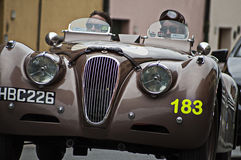 Jaguar XK 120 open tweepersoonsautosporten 1950 Stock Afbeeldingen