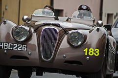 Jaguar XK 120 open tweepersoonsautosporten 1950 Stock Fotografie