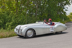 Jaguar  XK 120 OTS (1949) in Mille Miglia 2014 Stock Photo