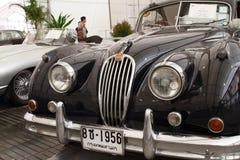 Jaguar XK140, coches de la vendimia Imagen de archivo